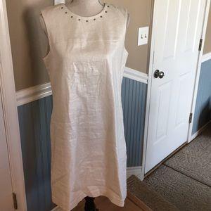 Cynthia Rowley sleeveless linen dress, size 12